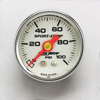 "Auto Gage Mechanical Pressure Gauge 1 1 2"" Dia Silver Face 2180"