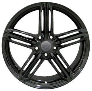 "18"" Black RS6 Style Wheels 18x8 Set Rim Fits Audi A4 A6 A7 A8 Allroad"
