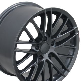 "17"" Corvette C6 ZR1 Gunmetal Wheels Set of 4 Rims Fits Chevrolet Camaro SS"