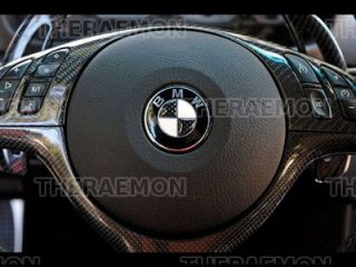 BMW E46 M3 E39 M5 Real Carbon Fiber Steering Wheel Cover