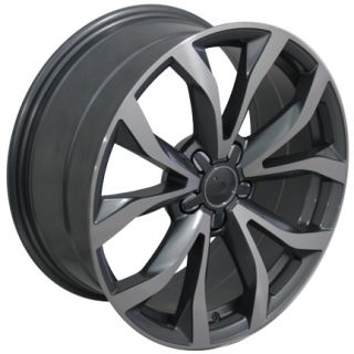"18"" Gunmetal A6 Wheels 18x8 Set of 4 Rims Fits Audi A3 A4 A6 A8"