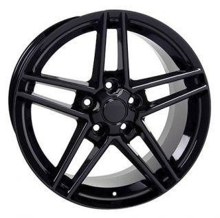 "17"" Black Corvette C6 Z06 Wheels Set of 4 Rims Fit Camaro SS Firebird Trans Am"