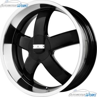 22x8 5 Verde Skylon 5x115 5x100 38mm Gloss Black Wheels Rims inch 22""