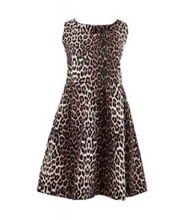 Lovedrobe Brown Leopard Print Dress