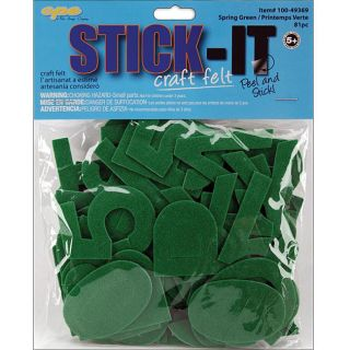 Stick It Felt Spring Green Numbers and Letters (Case of 80) Stickers