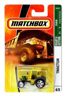 Mattel Year 2007 Matchbox MBX FARM Series 164 Scale Die Cast Vehicle #65   Yellow TRACTOR (M5327) Toys & Games