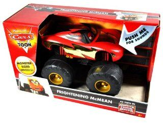 "Mattel Year 2009 Disney Pixar Cars Toon Series As Seen In ""Monster Truck Mater"" Vehicle Set   FRIGHTENING McMEAN with Sounds and Monster Sized Wheels (Vehicle Dimension 6"" x 6"" x 8"") Toys & Games"