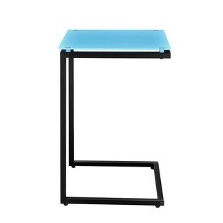 Altra Modern Teal and Black Glass Top C End Table Coffee, Sofa & End Tables
