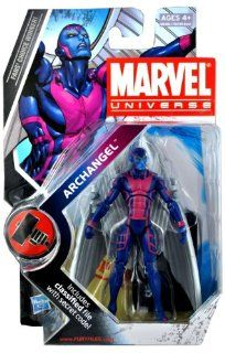 Marvel Universe Year 2009 Series 2 HAMMER Single Pack 4 Inch Tall Action Figure #15   ARCHANGEL with Wings and Figure Display Stand Plus Bonus Classified File with Secret Code Toys & Games