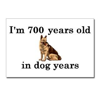 100 birthday dog years german shepherd 2 Postcards by PARTYHUT