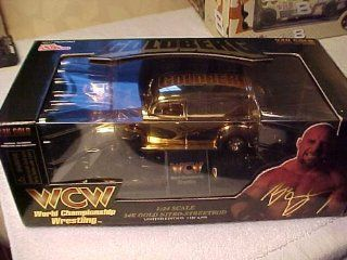 WCW WWE * Goldberg 1/24 scale 24KT GOLD Plated 1998 Racing Champions Street Rod of 4,998 Panel Truck with serial number on chassis Toys & Games