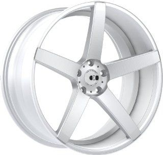 XO Miami 20 Silver Wheel / Rim 5x4.5 with a 32mm Offset and a 73.1 Hub Bore. Partnumber X203KL5F32R73 Automotive