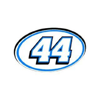 44 Number Jersey Racing   Blue   Window Bumper Sticker Automotive