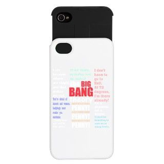 Big Bang Theory Quotations iPhone Wallet Case by designsanddesigns