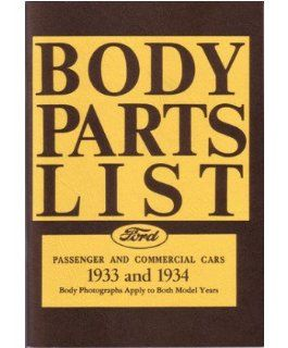 1933 1934 Ford Parts Numbers Book List Catalog Guide Interchange Factory OEM Automotive