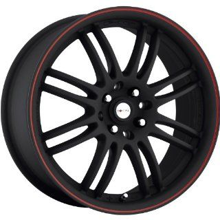 Focal F 16 16 Black Red Wheel / Rim 4x100 & 4x4.5 with a 42mm Offset and a 73 Hub Bore. Partnumber 163 6703B Automotive