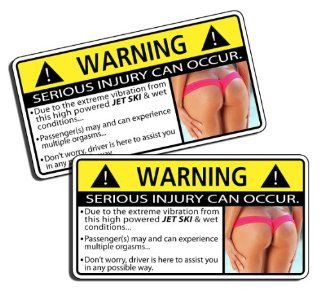 Funny Jet Ski Vibration Warning Decal Sticker Graphic