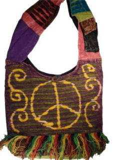Bohemian Fringe Patchwork Bag Crossbody Purse Handmade in Nepal Fair Trade By Ragged Ends Clothing