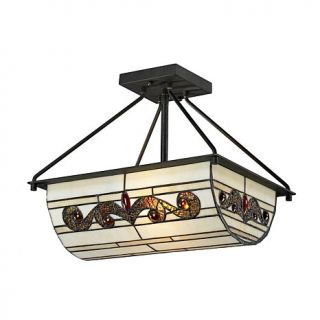 Dale Tiffany Cupertino Semi Flush, Ceiling Mounted Lamp