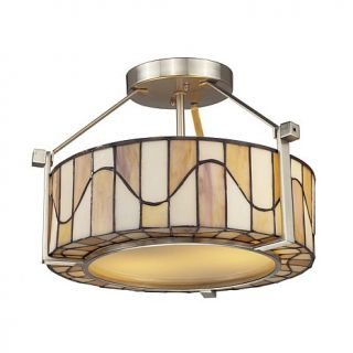 Dale Tiffany Sandfield Semi Flush, Ceiling Mounted Lamp