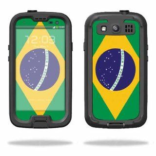 Protective Vinyl Skin Decal Cover for LifeProof Samsung Galaxy S III S3 Case fre Sticker Skins Brazilian Flag Cell Phones & Accessories