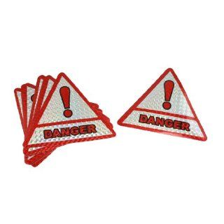 Car Window Danger Warning Caution Triangle Sign Sticker 10 Pcs Automotive
