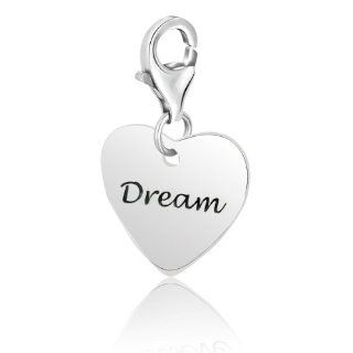 Sterling Silver Heart DREAM Charm Jewelry