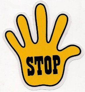 Yellow Right Hand Stop Sign Decal Graphic Vinyl Sticker