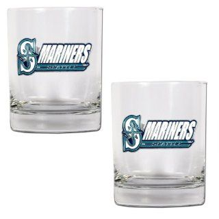MLB Seattle Mariners Two Piece Rocks Glass Set Sports & Outdoors