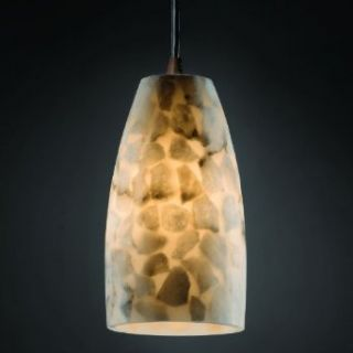 Alabaster Rocks 5 inch Bronze & Mosaic 1 Light Tapered Cylinder Mini Pendant   Ceiling Pendant Fixtures