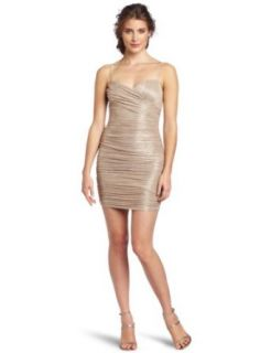 maxandcleo Women's Esther Knit Dress, Gold Silver, 2