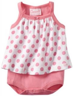Coccoli Baby Girls Newborn Sunny Days Summer Sleeveless Dress, Pink Dots, 6 Months Clothing