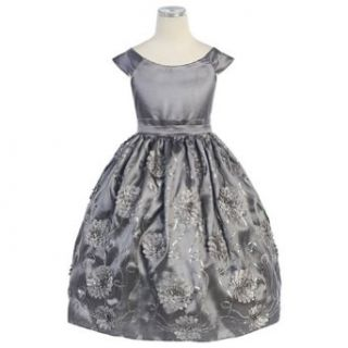 Sweet Kids Gray Sequin Embroidered Flower Girls Christmas Dress 2T Sweet Kids Clothing
