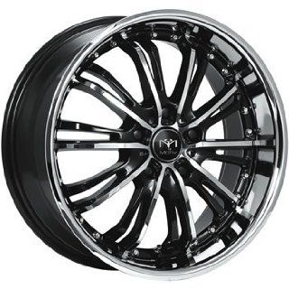 Motiv Mystique 18x8 Chrome Black Wheel / Rim 5x4.5 with a 42mm Offset and a 73.00 Hub Bore. Partnumber 402CB 8806542 Automotive