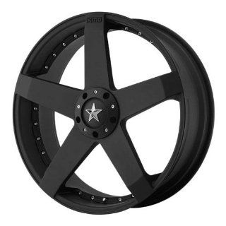 KMC KM775 20x8 Black Wheel / Rim 5x4.5 & 5x4.75 with a 32mm Offset and a 72.60 Hub Bore. Partnumber KM77528004732 Automotive