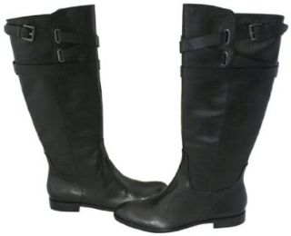 Coach Cayden Smooth Nappa Black Leather Boots Clothing