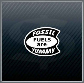 Fossil Fuels are Yummy Hot Rod Vintage Car Sticker Decal