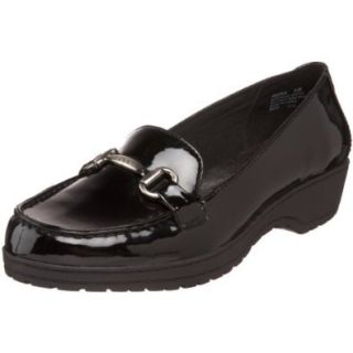 AK Anne Klein Women's Opus Loafer,Black Synthetic,9 M US Shoes