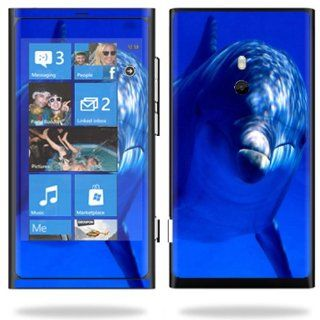 Protective Vinyl Skin Decal Cover for Nokia Lumia 800 4G Windows Phone Cell Phone Sticker Skins Dolphin Cell Phones & Accessories