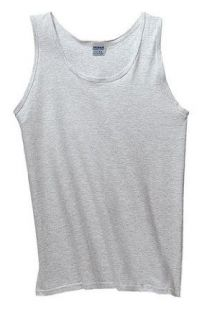 Gildan Ultra Cotton Tank Top Shirt   Ash Color at  Men�s Clothing store