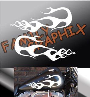 "Motorcycle Flames Gas Tank Flame Decals Harley 13""x5.5"" Flm105"