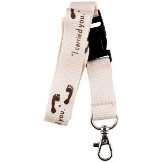 "Footprints ""I Carried You"" Religous Detachable Lanyard Key Ring with Ichthus Christian Fish Religious Lord God Jesus Christ Religion Key Chain"