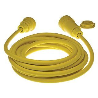 Woodhead 14W33A123 Watertite Wet Location Straight Blade Cordset, 3 Wires, 2 Poles, NEMA 5 20 Configuration, 12 Gauge SOOW Cord, Yellow, 20A Current, 125V Voltage, 25ft Cord Length Electric Plugs