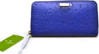 Kate Spade Neda Alexander Avenue Cobalt Blue Zip Around Wallet Clutch (Blue) WLRU1330 Shoes