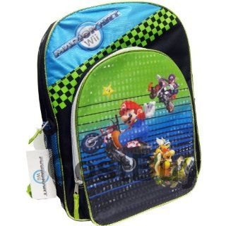 "Mario Kart Wii Super Mario 16"" School Large Backpack Toys & Games"