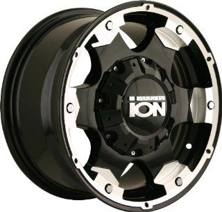 "Ion Alloy 194 Black Wheel with Machined Face and Lip (16x8""/10x127mm) Automotive"