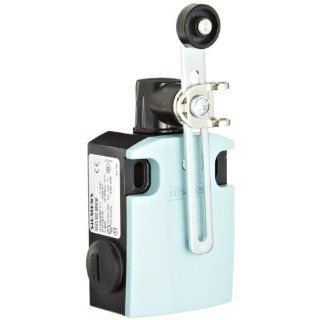 Siemens 3SE5 122 0BH50 International Limit Switch Complete Unit, Twist Lever, Adjustable Length, 56mm Metal Enclosure, Metal Lever, 19mm Plastic Roller, Slow Action Contacts, 1 NO + 1 NC Contacts