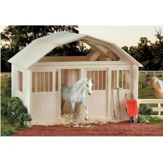 Breyer Horses Two Stall Natural Wood Barn Sports & Outdoors