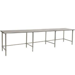 "Eagle Group T48132GTEM 48"" x 132"" Open Base Stainless Steel Commercial Work Table   Kitchen Products"