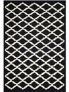 Safavieh CAM137E Cambridge Collection Handmade Wool Area Runner, 2 Feet 6 Inch by 8 Feet, Black and Ivory